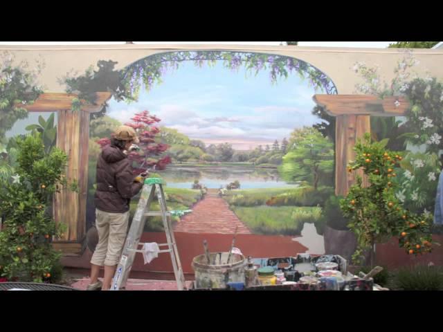 Backyard Pond Mural