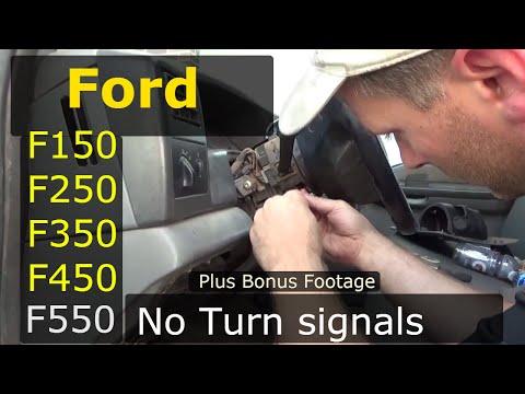 Turn signal switch Ford F150  F250 F350 F450 F550 Plus bonus footage!