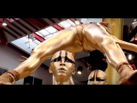第39回 (2016年) 大須大道町人祭 金粉ショウ / 金粉ショー 大駱駝艦 /ふれあい広場 (手ブレ補正)  goldens bodypainting dance butoh