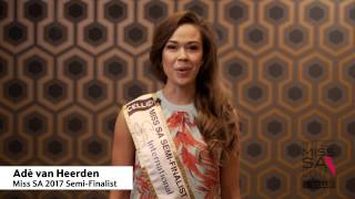Introduction Video of Adè van Heerden Miss South Africa 2017 Contestant from Herolds Bay, Western Cape