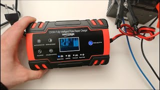 12V - 24V Pulse Repair Battery Charger (up to 8A) Unboxing & Test