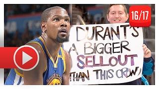 Kevin Durant Full Highlights vs Thunder (2017.02.11) - 34 Pts, 9 Reb, Back in Oklahoma!