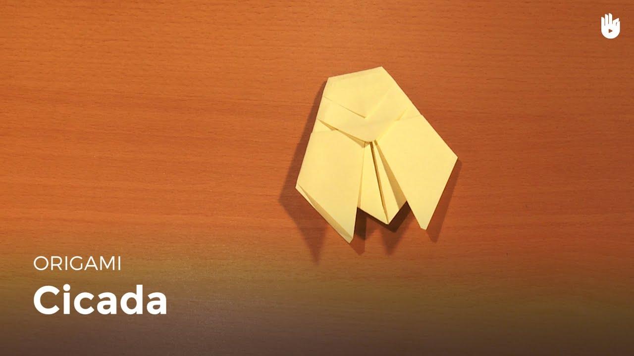 origami cicada learn how to make origami sikana