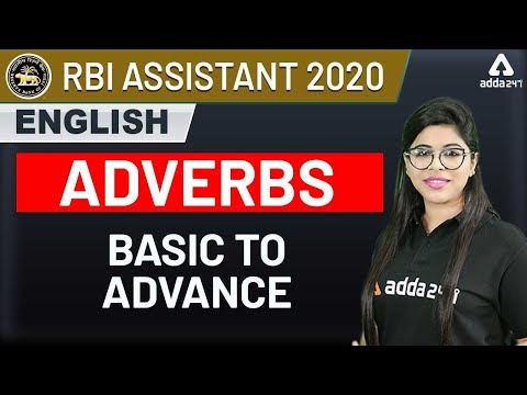 RBI Assistant 2020 | English Grammar | Adverbs Basic to Advance