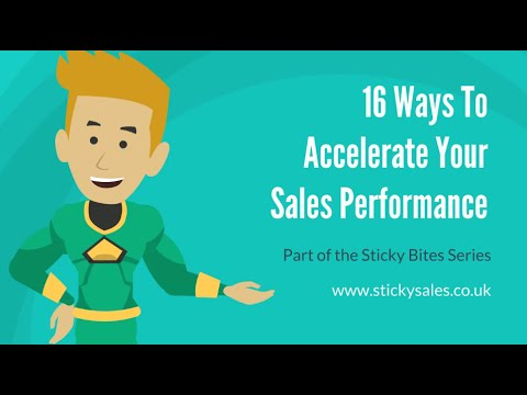 FREE Sales Training Video: 16 Ways To Accelerate Your Sales ...