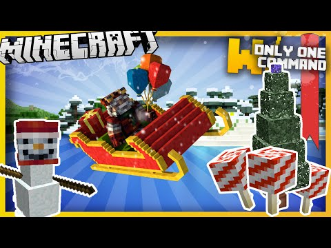 Christmas Minecraft Decorations.Christmas Decorations Snowy Biome Generator With Only One