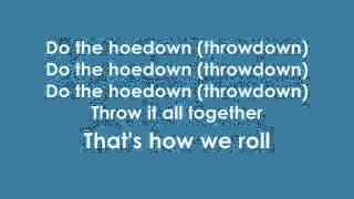 Miley Cyrus - Hoedown Throwdown  Lyrics