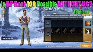 Is it POSSIBLE to Reach RP RANK 100 WITHOUT Spending ADDITIONAL UC   PUBG Mobile with DerekG