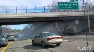 Water Pipe Breaks On Highway