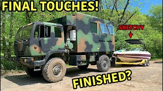 What an amazing journey this has been! We never thought we would be purchasing a military truck and converting it into a tiny house. This was a once in a lifetime opportunity for us and we are happy that we chose this build. This military truck is coming to completion here very soon and we can't wait to put it to use. Were super happy to share the entire process with you guys, so thanks for watching!!!!  -NEW GOONZQUAD NEW T-SHIRTS!!!:  https://goonzquad.com  -Instagram: https://www.instagram.com/goonzquad/  -Email: goonzquadteam@gmail.com  -P.O. Box 37   Rossville,GA 30741  Music Credits: Song: Markvard - Spring Music provided by Vlog No Copyright Music. Video Link: https://youtu.be/vmrQyJk5sec  Song: Extenz - Campfire Music provided by Vlog No Copyright Music. Creative Commons - Attribution 3.0 Unported Video Link: https://youtu.be/rGGd3107ZEQ  Song: MusicbyAden - Feel Good Music provided by Vlog No Copyright Music. Creative Commons - Attribution-ShareAlike 3.0 Unported Video Link: https://youtu.be/e_i0pJ9Qby0  Song: Atch - Traveller Music provided by Vlog No Copyright Music. Creative Commons - Attribution-ShareAlike 3.0 Unported Video Link: https://youtu.be/PbcfSOhkzYw  Song: AWN - We Know Music provided by Vlog No Copyright Music. Creative Commons - Attribution-ShareAlike 3.0 Unported Video Link: https://youtu.be/9jw3QO49pFo   Blue by Roa Music https://soundcloud.com/roa_music1031 Creative Commons — Attribution 3.0 Unported  — CC BY 3.0  Free Download / Stream: https://bit.ly/blue-roa-music  Music promoted by Audio Library https://youtu.be/QaDf_k7rdKQ   Song: Thomas Gresen - Pretty Lies (Vlog No Copyright Music) Music provided by Vlog No Copyright Music. Video Link: https://youtu.be/i_Fya3uP8WA  A Magical Journey Through Space by Leonell Cassio  https://soundcloud.com/leonellcassio Creative Commons — Attribution-ShareAlike 3.0 Unported — CC BY-SA 3.0 Free Download / Stream: https://bit.ly/a-magical-journey-thro... Music promoted by Audio Library https://youtu.be