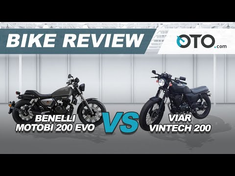 Benelli Motobi 200 EVO vs Viar Vintech 200 | Bike Comparison | GIIAS 2018 | OTO.com
