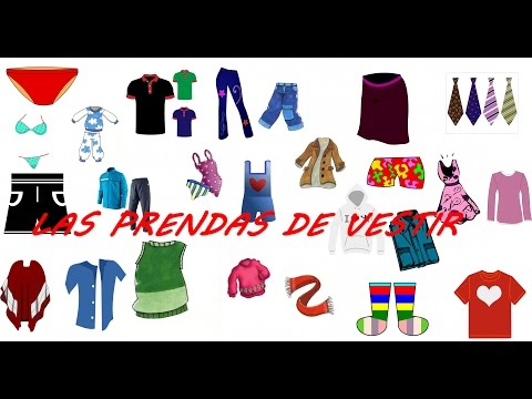 Las prendas de vestir . videos para niños.La ropa