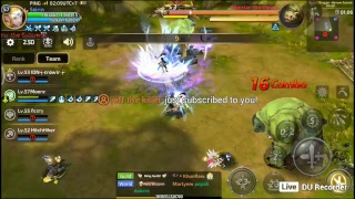 My Dragon Nest livestream using DU Recorder