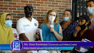 Diana Bagrationi Foundation volunteering for Mask Distribution in Partnership with Eric Adams for th