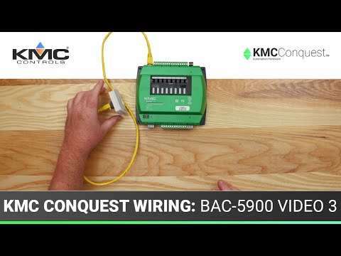 KMC Conquest Wiring: BAC-5900 Series Controllers