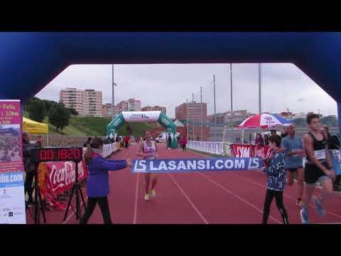 Llegada campeona 5km