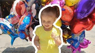 Maya Kendine 5 Tane Uçan Balon Aldı - Elsa Miki Hello Kitty Maşa Niloya Pepee Örümcek Adam