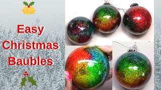 The Easiest Way To Make Beautiful Sparkly Christmas Baubles