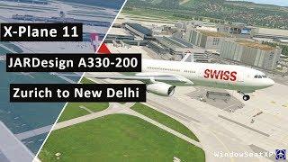X-Plane 11 JARDesign A330 DELTA 2703 Seattle to San