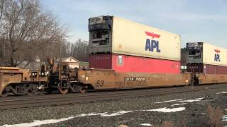 preview picture of video '[HD] CSX Intermodal Train Q159 at Fonda, NY'