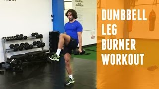 Dumbbell Leg Burner | Home Workout by The Body Coach TV