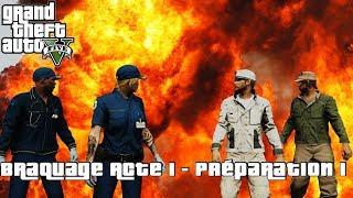 """DES AMBULANCIERS BADASS !! (GTA 5 Braquage Fin du Monde: Acte 1 - Préparation """"Coursier Mort"""")"""