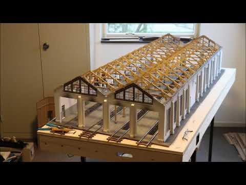 Bau einer 4-ständige Lokschuppen in 1:32