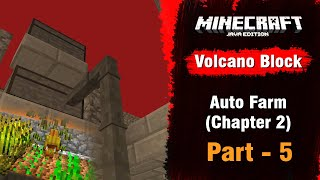 Volcano Block #5 - Auto Farm with Pipes (Chapter  2) - Minecraft Java | in Hindi | BlackClue Gaming
