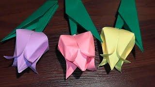 Орігамі тюльпан з паперу (квітка з паперу) майстер клас