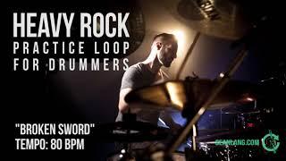 """Heavy Rock - Drumless Track for Drummers - """"Broken Sword"""""""