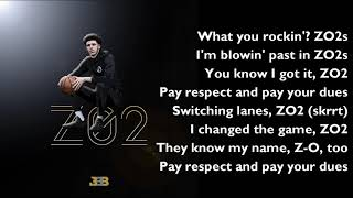 Lonzo Ball - 'Zo2' (OFFICIAL LYRICS)
