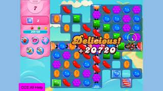 Candy Crush Saga Level 3290 18 moves with boosters