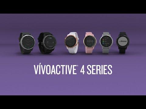 Smartwatch Garmin Vivoactive 4S Γκρι/Ασημί