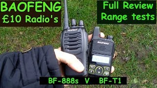 Baofeng BF-T1 V BF- 888s Review And Real Life Range Tests