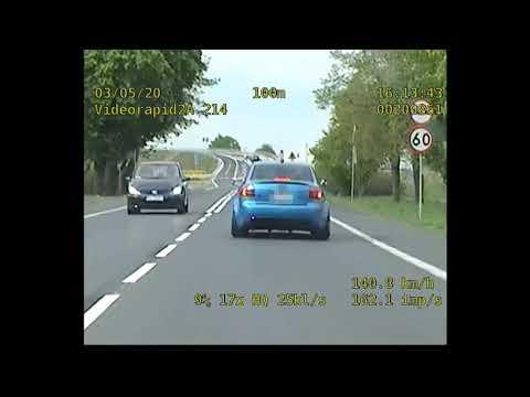Wideo1: Pędził ponad 200 km/h