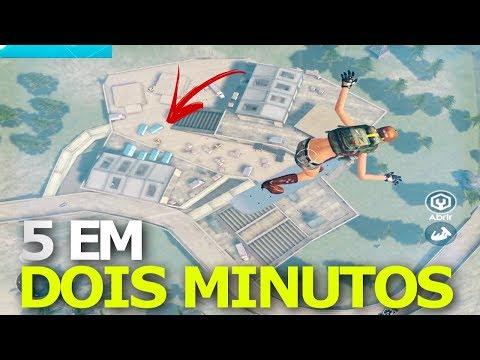 MATEI 5 EM 2 MINUTOS - DEI RAGE NO FINAL - FREE FIRE BATTLEGROUNDS