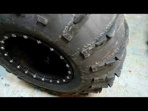Сборка бескамерных колес для болотохода. Swamptools