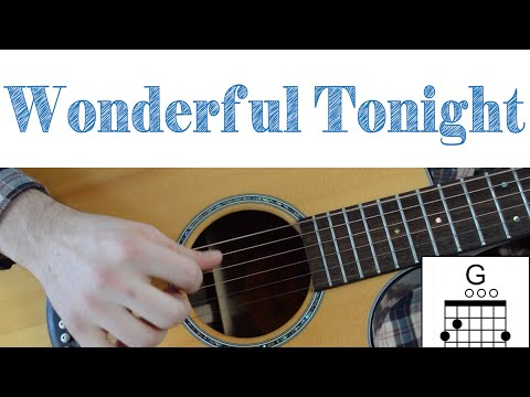 Eric Clapton - Wonderful Tonight -- Easy Guitar Lesson - Chords, Strumming and Lead