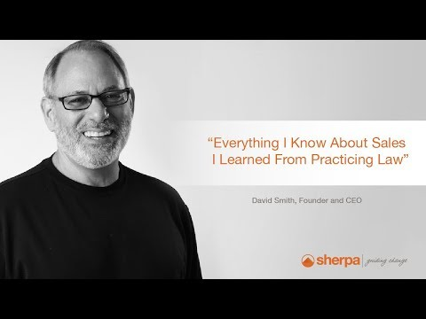 David's Sales Tips, Episode One:  Everything I Know About Sales, I Learned from Practicing Law