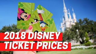 Disney World Increases 2018 Ticket Prices