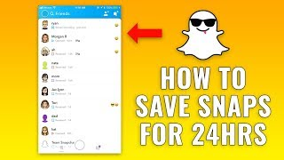 How to Save Snapchats for 24 Hours