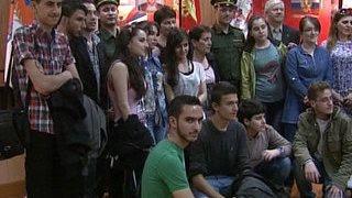 Сирийские школьники побывали в расположении Преображенского полка