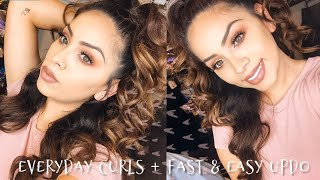 EVERYDAY CURLS + FAST & EASY UPDO