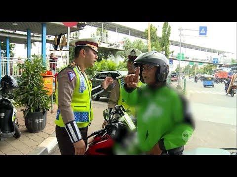 Debat Seru Antara Korlantas Polri dan Driver Ojek Online yang Melanggar