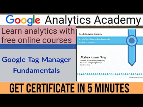 Free Certificate Course by Google   Google Tag Manager ... - YouTube