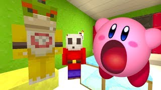 Minecraft Switch - Nintendo Fun House - Bowser Jr Gets Eaten By KIRBY! [111]