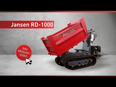 Raupendumper Jansen RD-1000, Kettendumper, Minidumper, Dumper