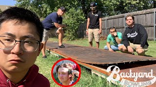 Our Backyard Bowling Lane Was Destroyed | We Gave Our New Roommate A Haircut (Punishment)