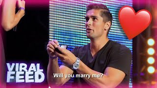 BEST On Stage MARRIAGE PROPOSALS EVER During Auditions On Got Talent & X Factor  | VIRAL FEED