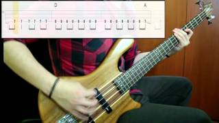 Foo Fighters   Everlong (Bass Cover) (Play Along Tabs In Video)